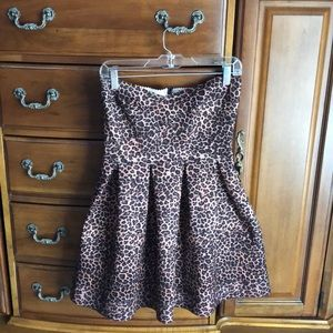Strapless Cheetah Dress